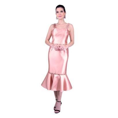 Vestido Midi Em Zibeline Feminino-Feminino
