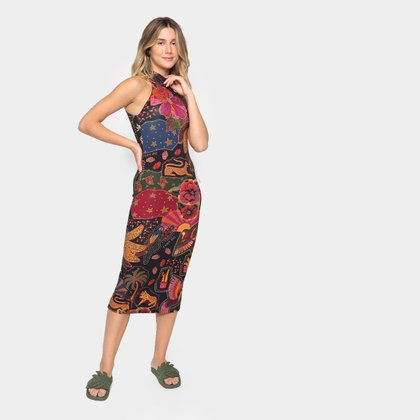 Vestido Midi Farm Beleza Mix Feminino