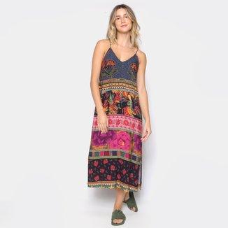 Vestido Midi Farm Patch Lindeza Feminino