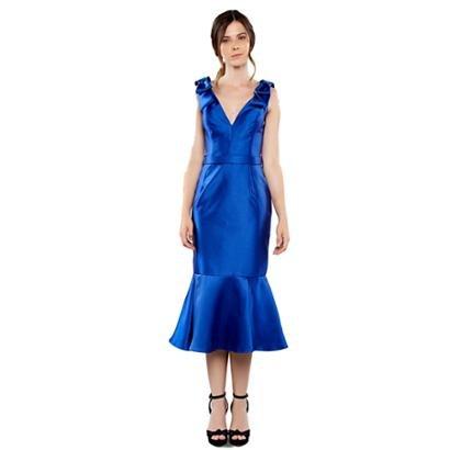 Vestido Midi Izadora Lima Brand Em Zibeline Detalhe Laços Feminino-Feminino
