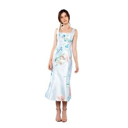 Vestido Midi Izadora Lima Brand Em Zibeline Estampado Feminino-Feminino