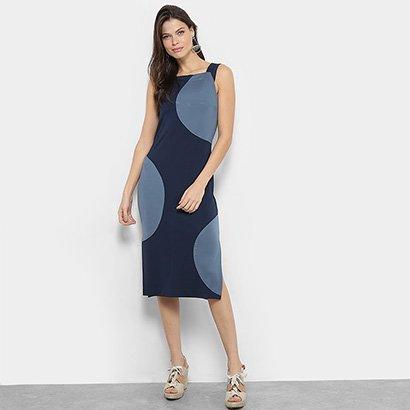 Vestido Midi Maria Filó Geométrico Feminino