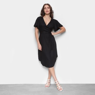 Vestido Midi Mercatto Decote V