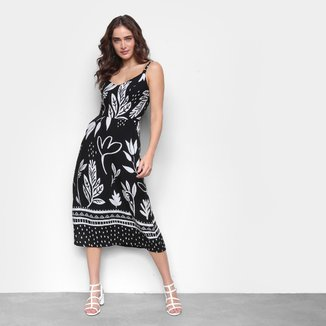 Vestido Midi Mercatto Estampado Feminino