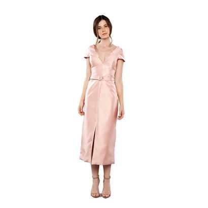 Vestido Midi Tubinho Em Zibeline Feminino-Feminino