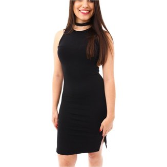 Vestido Moda Vício Regata Decote Costas Feminino