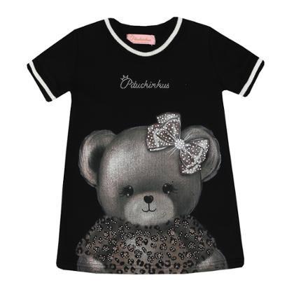 Vestido Moletom Infantil Pituchinhu's Urso