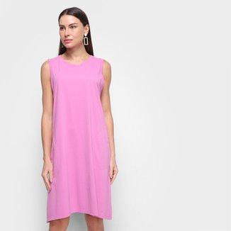 Vestido Morena Rosa Curto Básico Liso