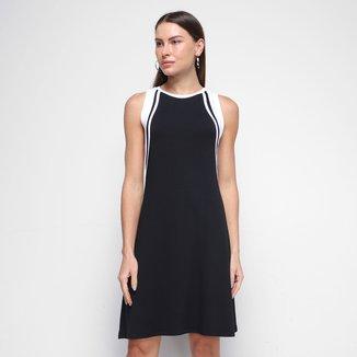 Vestido Morena Rosa Curto T-Dress Com Recortes
