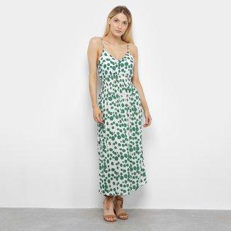 Vestido Ms Fashion Longo Estampado