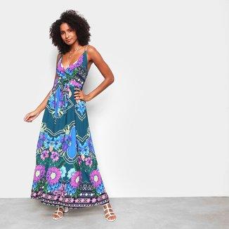 Vestido MS Fashion Longo Floral