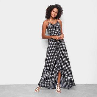 Vestido MS Fashion Longo Poá