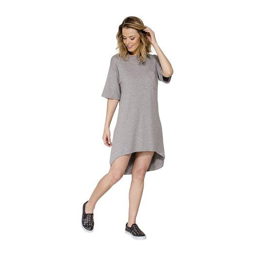 Vestido Mullet Detalhe Bolso HAN - Cinza