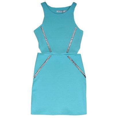 Vestido Pedrarias Authoria Azul Tiffany
