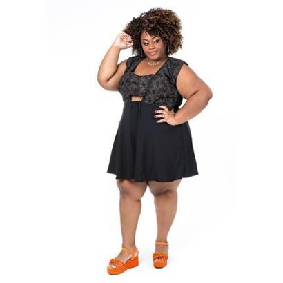 Vestido Plus Size Brio Diva Feminino