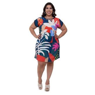 Vestido Plus Size Mais na Moda Plus Luciana