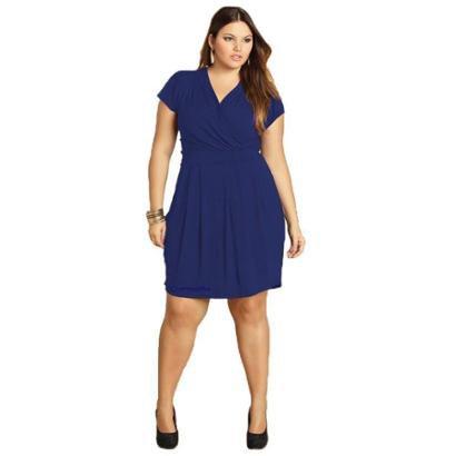 Vestido Plus Size Quintess Curto Feminino
