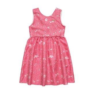 Vestido Quimby Infantil em tecido jacquard acetinado Feminino