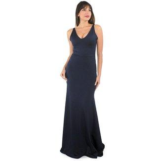 Vestido Racy Longo Decote em V. Festa Feminino