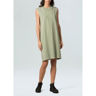 Vestido Sleeveless Marmorizado-Verde/Cerrado - P