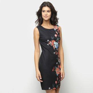 Vestido Sofia Fashion Tubinho Curto Floral