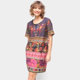 Vestido T-Shirt Farm Patch Lindeza Feminino