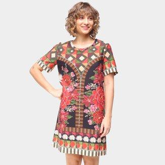 Vestido T-Shirt Farm Valentina Feminino