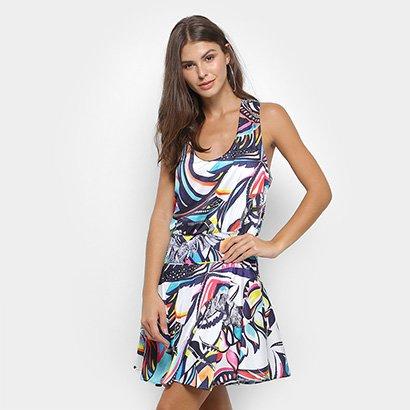 Vestido Triton Estampado Feminino