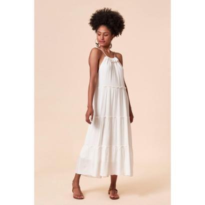 Vestido TVZ Longo Feminino - Feminino-Branco