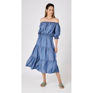 Vestido Use Jeans Express Longuete Anabele Feminino
