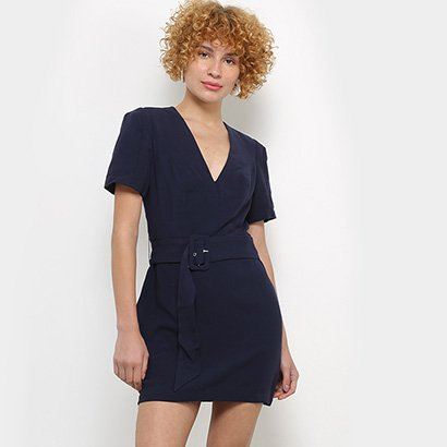 Vestidos Colcci Curto Decote V Faixa Cinto