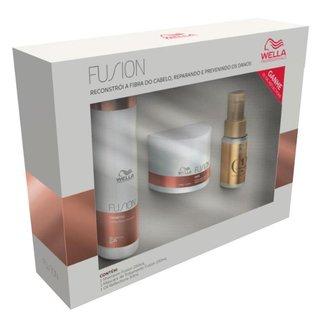 Wella Professionals Fusion + Oil Reflections - Shampoo + Máscara + Óleo Kit