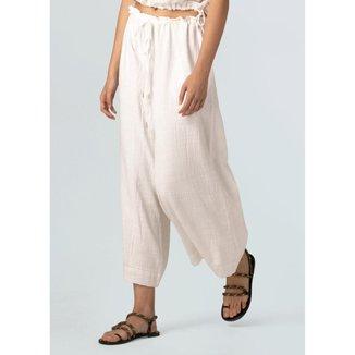 WOMENS COTTON RUSTIC PANTS - WHITE - P
