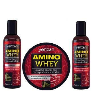 Yenzah Amino Whey Kit - Shampoo + Condicionador + Máscara Kit