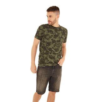 Zinco Camiseta Zinco Regular Decote Redondo Básica Militar