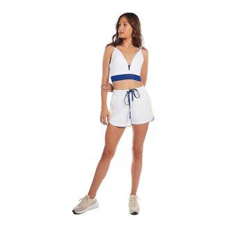 Zinco Shorts Zinco Boxer Com Amarração Branco